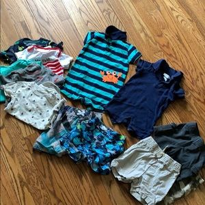 Large Summer Lot of 9 M Boys Clothes